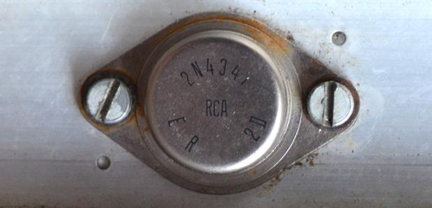 RCA 2N4347 power transistor in Vox Foundation Bass serial number 2813