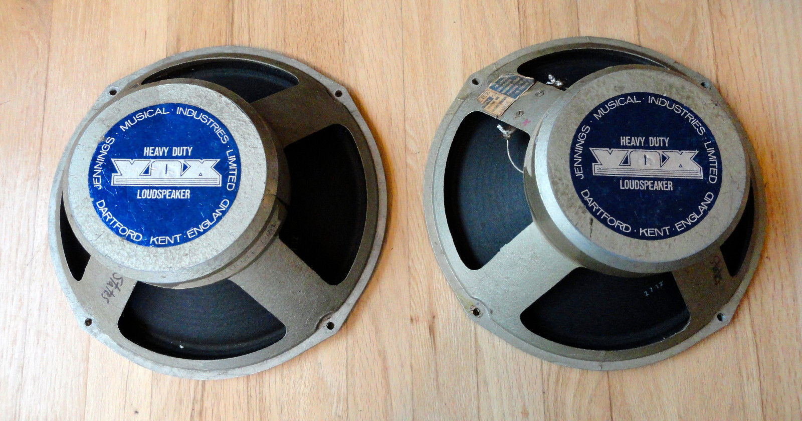 Vox heavy duty speaker labels