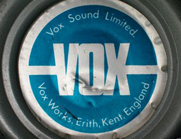 Vox Sound Limited speaker label for Celestion silver alnico T1088s