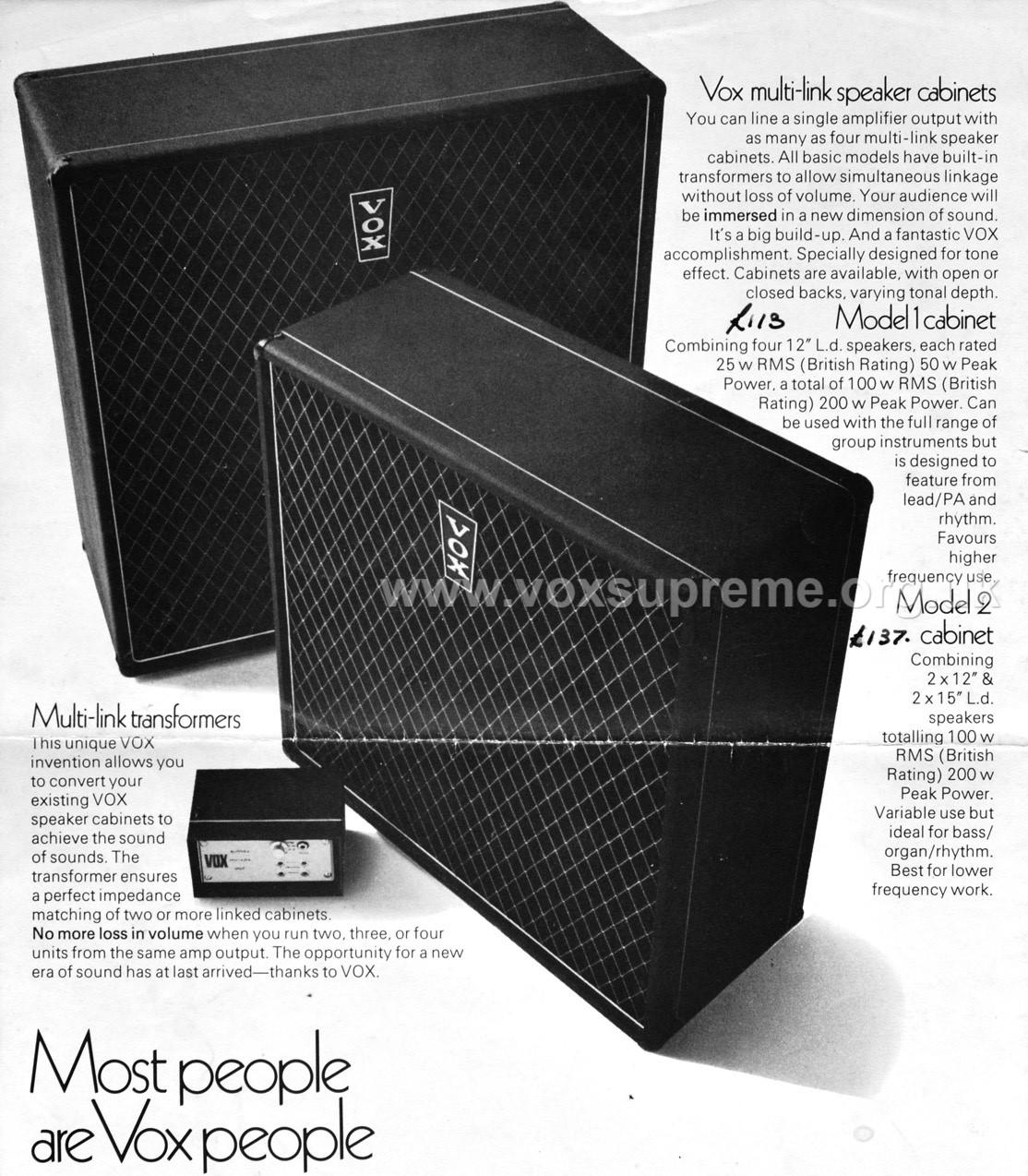 Vox Multi Link Transformer - impedance matcher