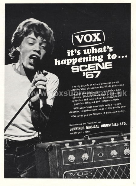 Beat Instrumental magazine, August 1966, first advert for the Vox Supreme amplifier