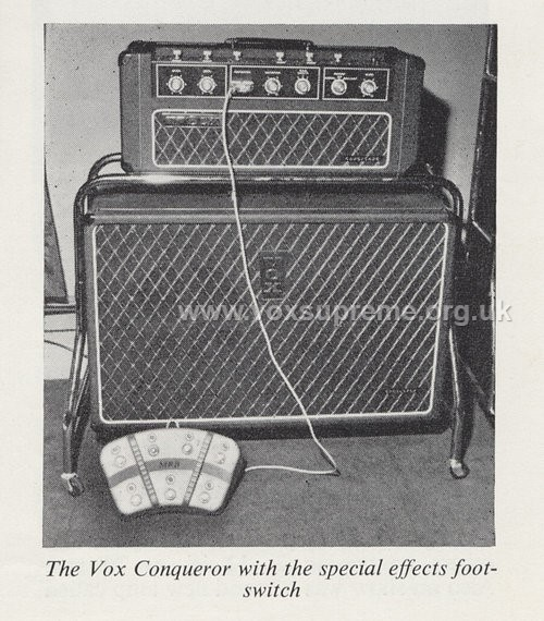 Beat Instrumental magazine, August 1966, prototype Vox Conqueror amplifier