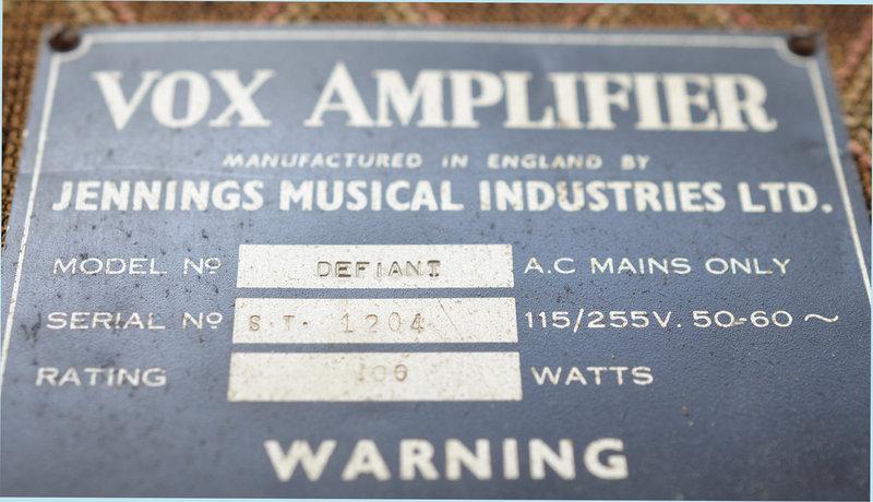 Vox Defiant serial number 1204