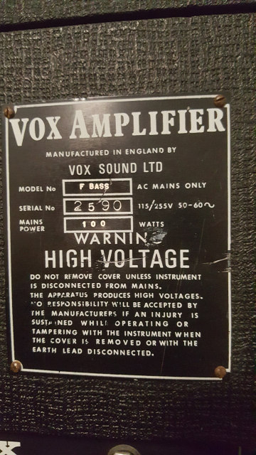 Vox Foundation Bass no. 2590