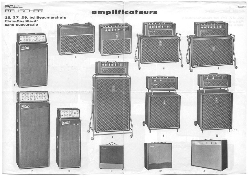 Vox solid state amplifiers in France, 1967-1969