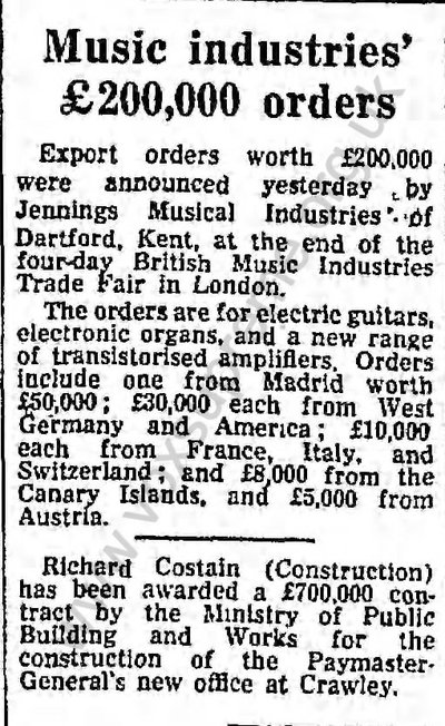 Guardian, 26th August, 1966