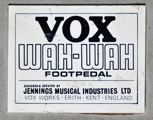 Vox Wah Wah no. 5985