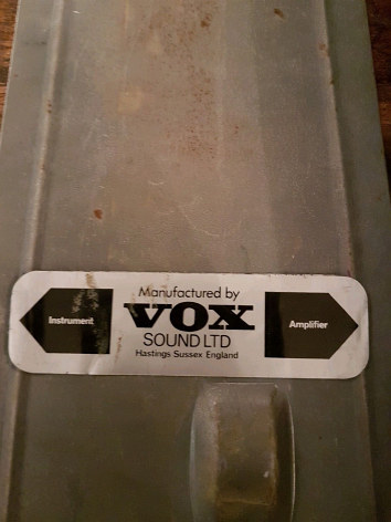 Vox Sound Ltd Wow Fuzz pedal made in Erith