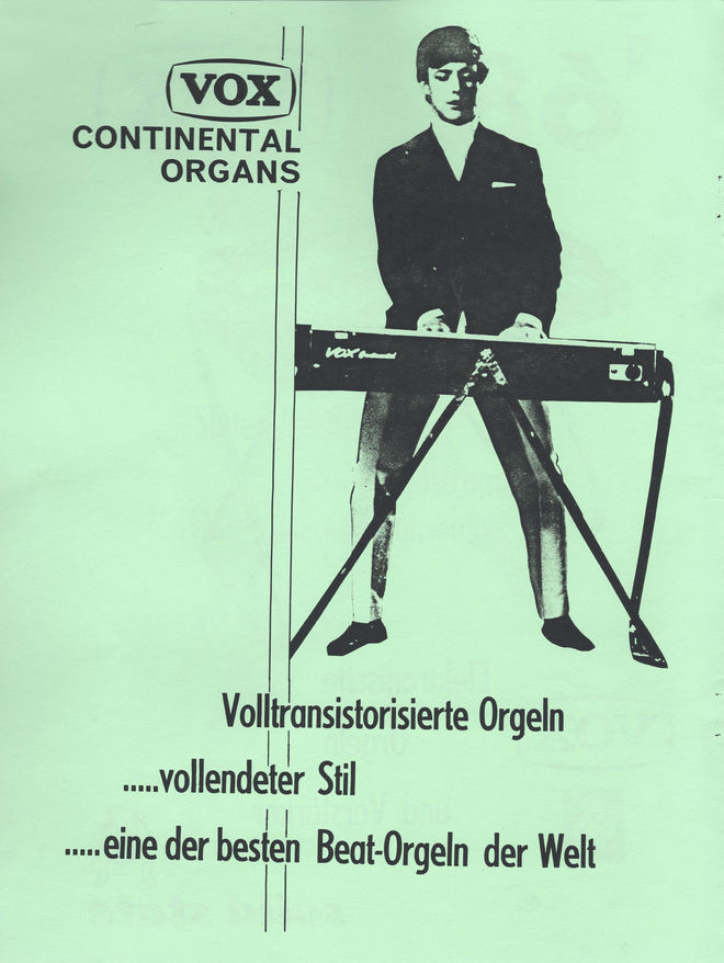 JMI german catalogue, 1968, inner front page - Mike Smith of the Dave Clark Five.