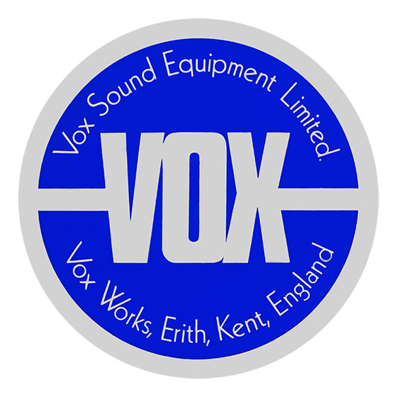 Vox Sound Equiment Limited - new style speaker label