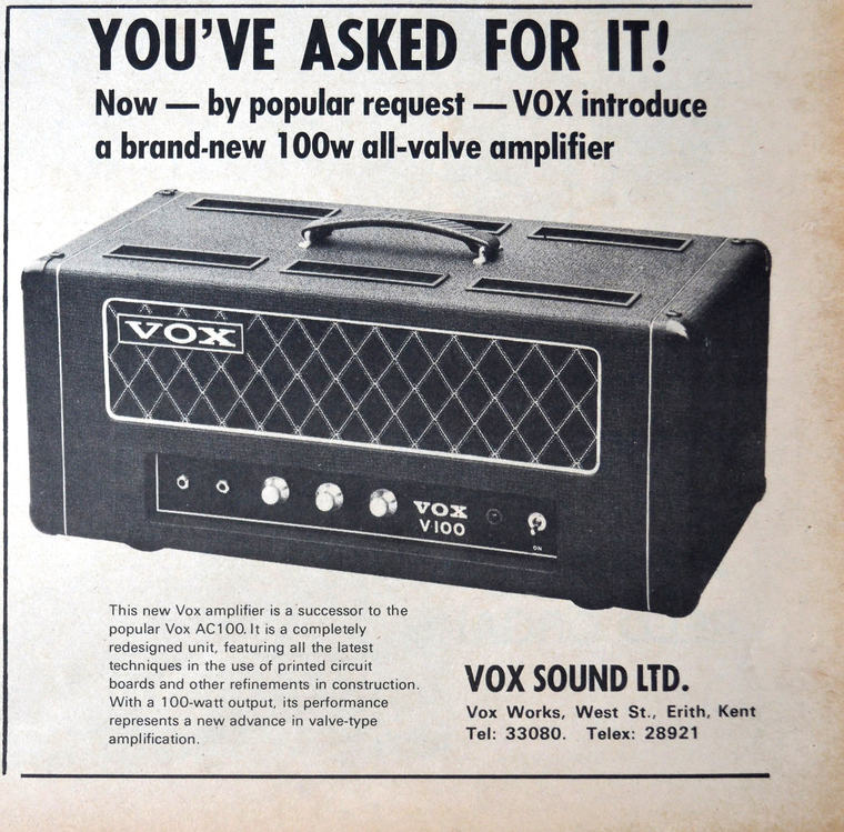 Vox Sound Equipment Limited V100