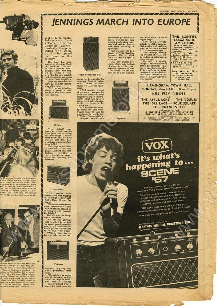 Midland Beat monthly newspaper magazine, March 1967