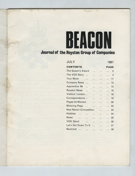 Beacon, Journal of the Royston Group of Companies - page 1