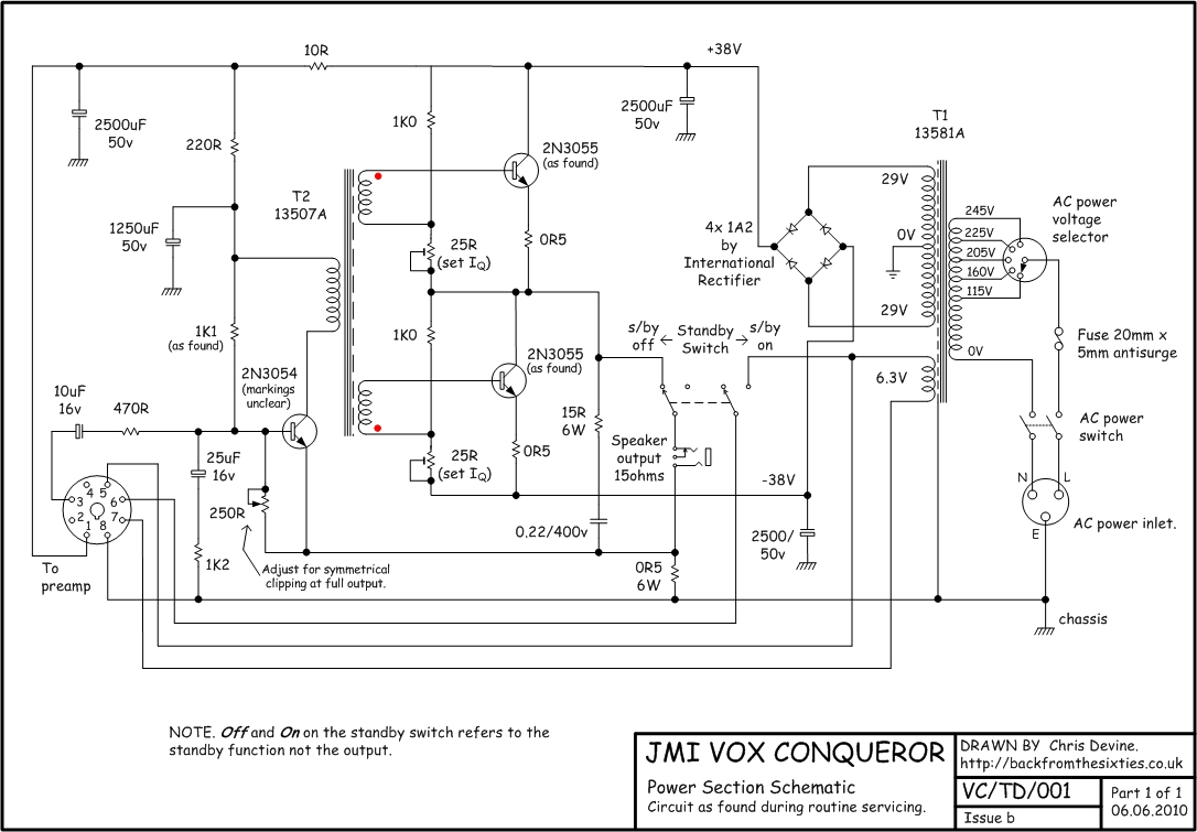 Vox Solid State Schematics 38v Wiring Diagram Schematic For The Conqueror And Dynamic Bass Power Section