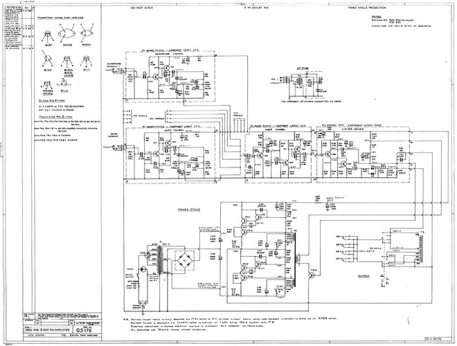 Vox Sound Equipment Ltd schematic for the Vox SS PA100