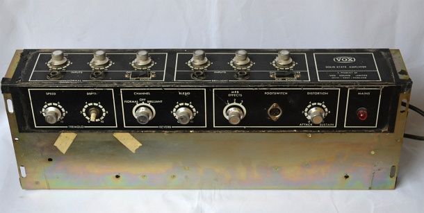 Vox Supreme amplifier serial number 2574, preamp