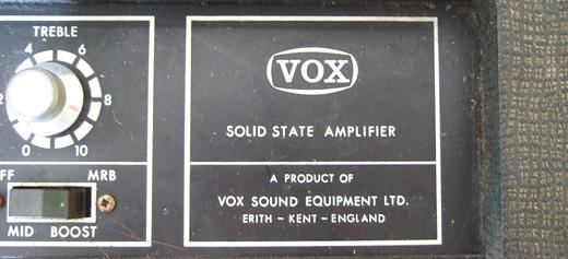 Vox Sound Equipment Limited amplifier control panel