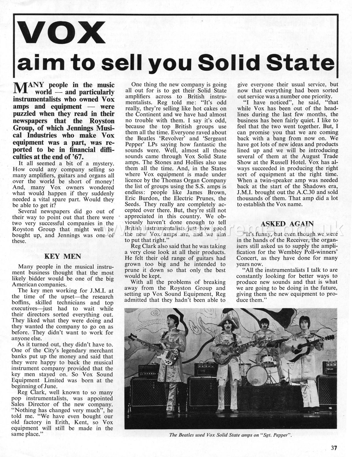 Beat Instrumental magazine August 1968
