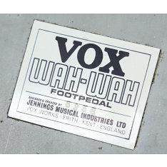 Numero di serie Vox Wah dating