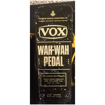 Vox Queen's Award wah pedal, base plate