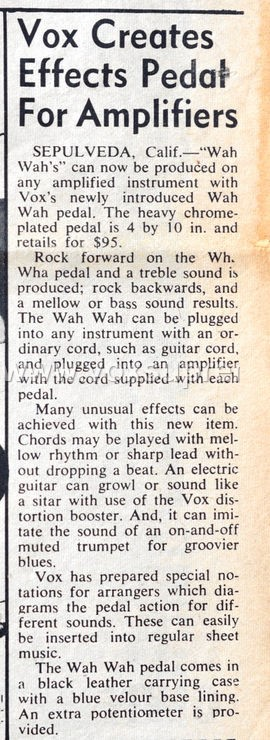 Vox Teenbeat Magazine, volume II, no. 2, early 1967