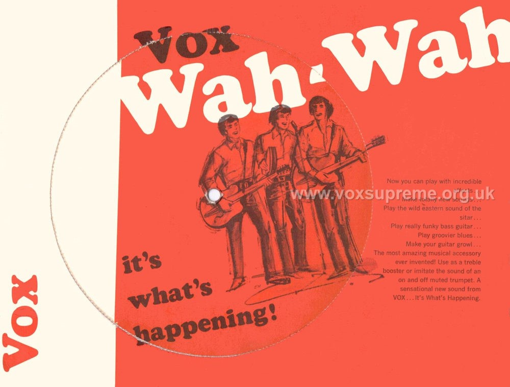 Vox Wah Wah pedal, flyer from May 1967